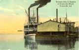 Steamer John S. Hopkins at Evansville Wharf, Evansville, Indiana